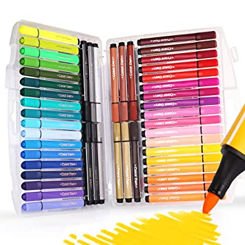 Georgie BAO CORE Kids Colouring Marker Pens Washable Non-toxic With Fibre Round