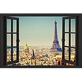 Paris Poster Window (91,5cm x 61cm) + un joli emballage cadeau