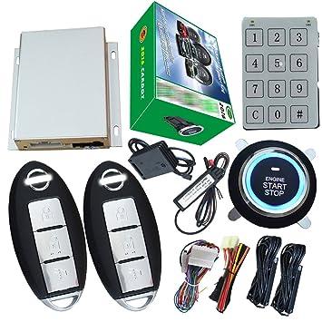 Auto inteligente alarma de coche con motor Start Stop botón ...