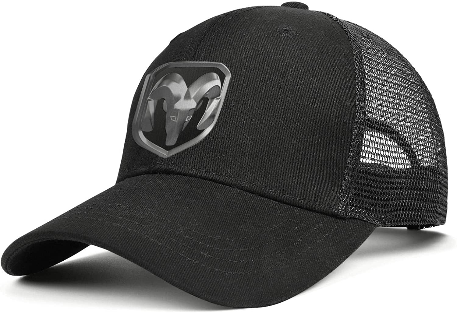 Ventilation Mesh Back Black Baseball Hats Dodge-RAM-car-Logo-Mens Women Relaxed Duck Tongue Hats