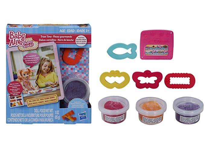 Amazon.com: Baby Alive Accessories Bundle of 3 Items - 1 Super Snacks Noodles & Pizza Snack Pack (Blonde), 1 Super Snacks Treat Time Snack Pack (Blonde) and ...