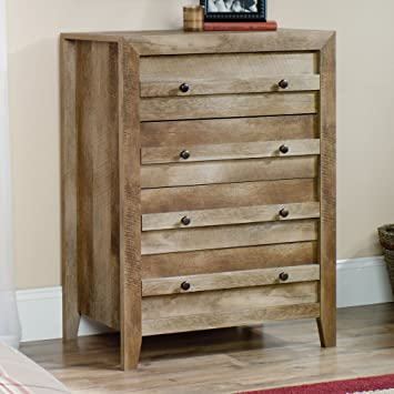 Sauder Dakota Pass 4 Drawer Chest In Craftsman Oak