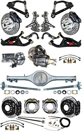 1967 Camaro Rear Drum Axle Brake Lines Set Kit Tubes Single Mono Leaf Spring OE