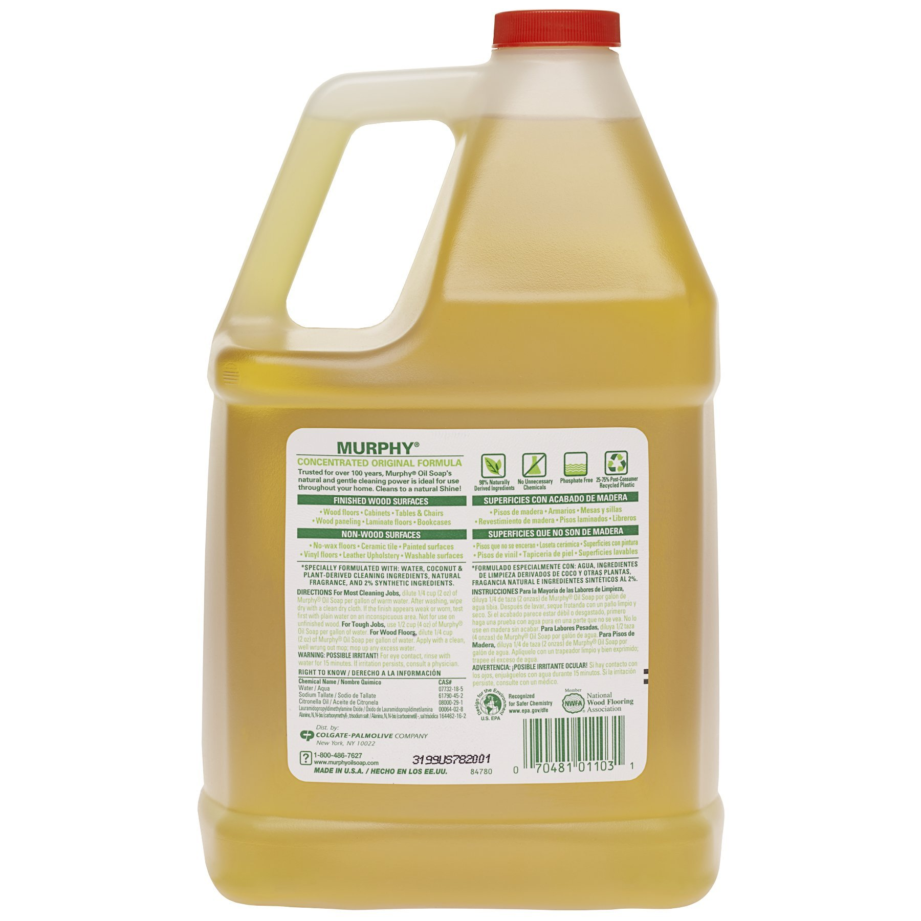 MURPHY OIL SOAP Wood Cleaner, Original, Concentrated Formula, Floor Cleaner, Multi-Use Wood Cleaner, Finished Surface Cleaner, 128 Fluid Ounce (US05480A) by Murphy Oil (Image #2)