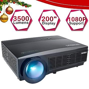 Proyector, WiMiUS Video Proyector 3800 Lúmenes Full HD Soporta ...