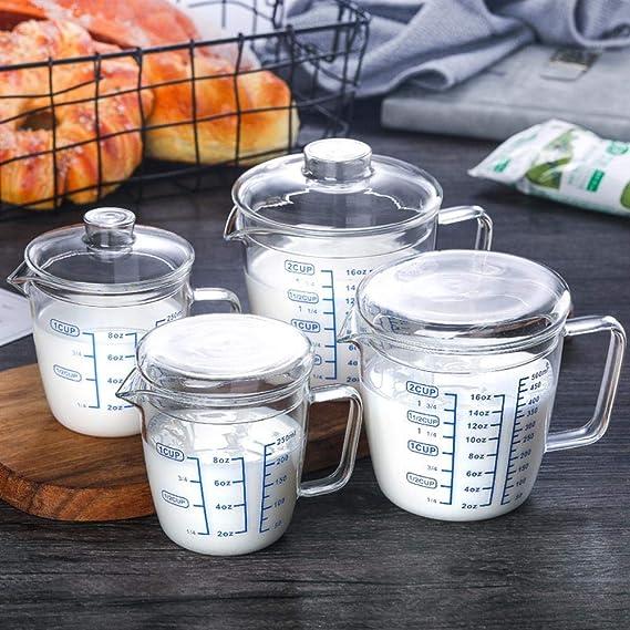 ALENAOO Bote de condimento de café 500ml / 250ml Taza de Leche con ...