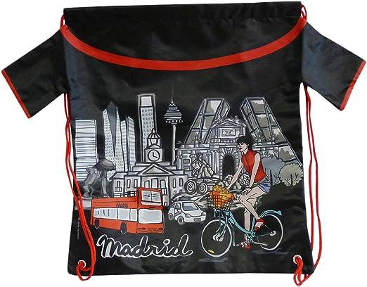 Nadal, Fiesta Souvenirs 393104, Mochila Madrid Bicicleta, Acrílico y Algodón, Negro, 40x34x0.5 cm: Amazon.es: Hogar