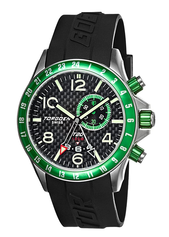 Torgoen – T20302 – Armbanduhr – Quarz Analog – Zifferblatt schwarz Armband Kunststoff schwarz