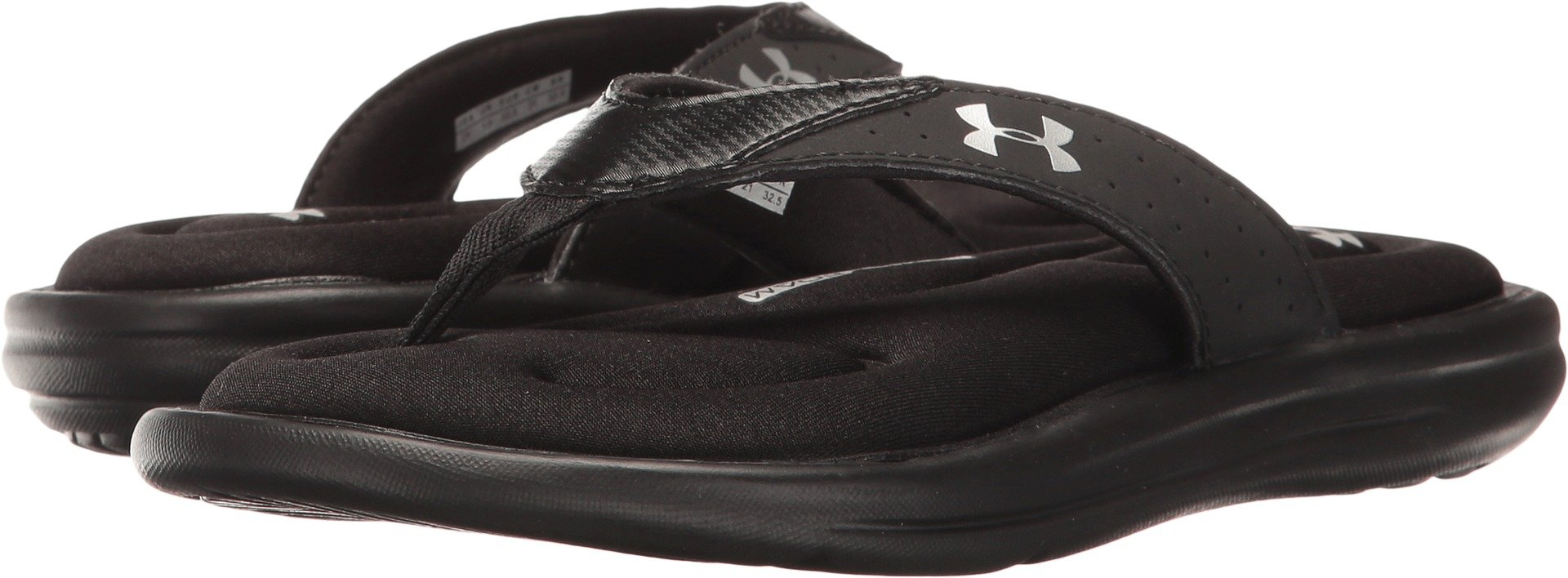 Under Armour Kids Girl's UA Marbella V T (Little Kid/Big Kid) Black/Metallic Silver Sandal