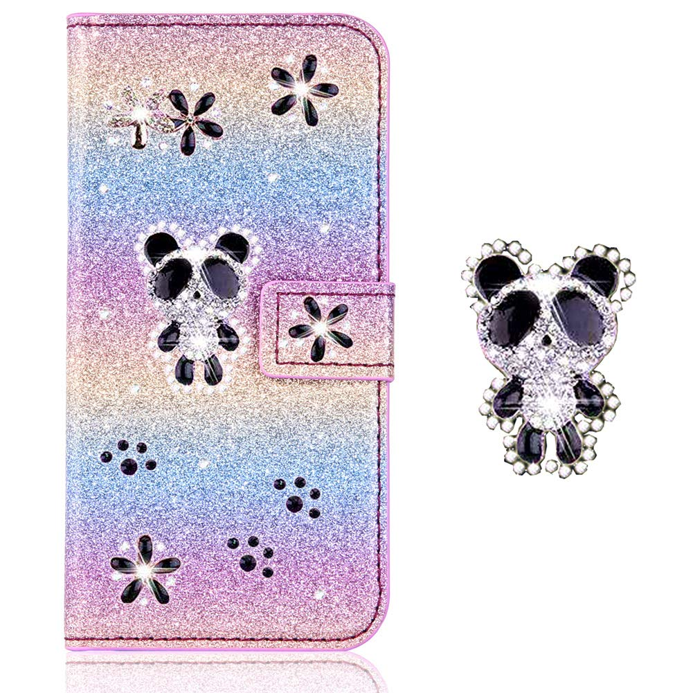 Stand Funktion Wallet f/ür iPhone 6S iPhone 6,Diamond Sparkle Billig Glitter Glitzer Musterg Soft Retro Flip Leder Bookstyle Karteneinschub Magnet