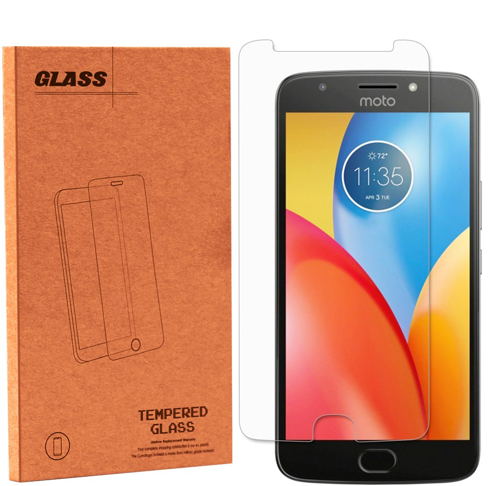 Moto E4 Plus Screen Protector, NOKEA Tempered Glass with [9H Hardness] [Crystal Clear] [Easy Bubble-Free Installation] [Scratch Resist] for Motorola Moto E4 Plus 2017 Released (1 Pack) by NOKEA (Image #1)