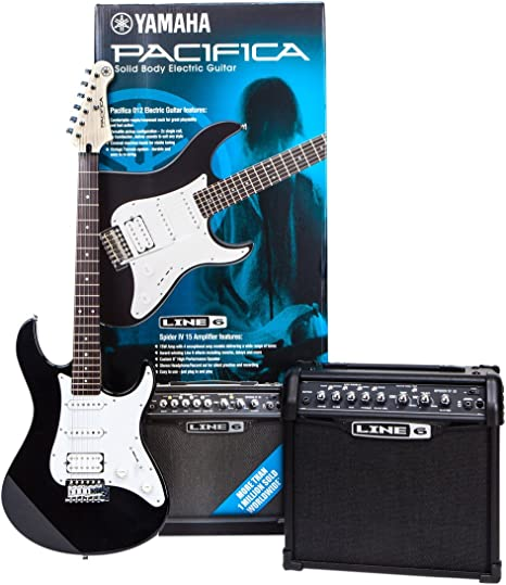 Yamaha pa012bl Spider Pack guitarra eléctrica Set: Amazon.es ...