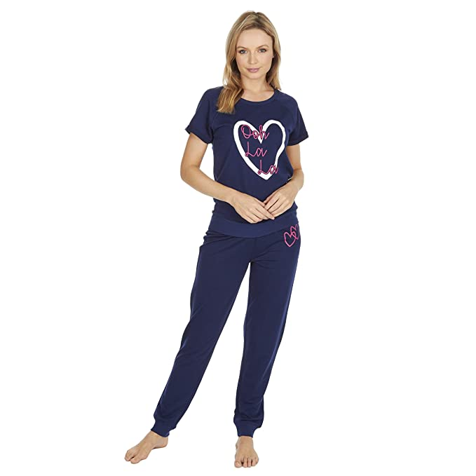 Best Deals Direct Mujer Pantalón De Chándal Estilo Pijama Mezcla Algodón - Azul Marino Ooh la