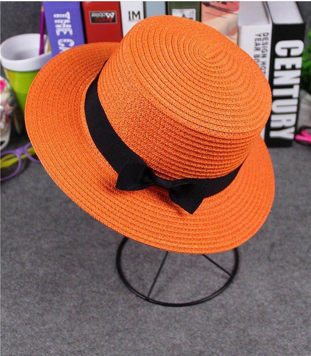 4URNEED 2 Piece Parent-Child Trilby Fedoras Hats Porkpie Hat Beach Straw Panama Hat