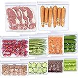 Bolsas de Silicona Reutilizables,10 Piezas Bolsas Congelar Reutilizable,Bolsas Reutilizables para Almacenamiento de Alimentos