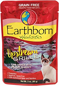 Earthborn Holistic Upstream Grille with Tuna & Salmon Grain-Free Wet Cat Food Pouches, Case of 24