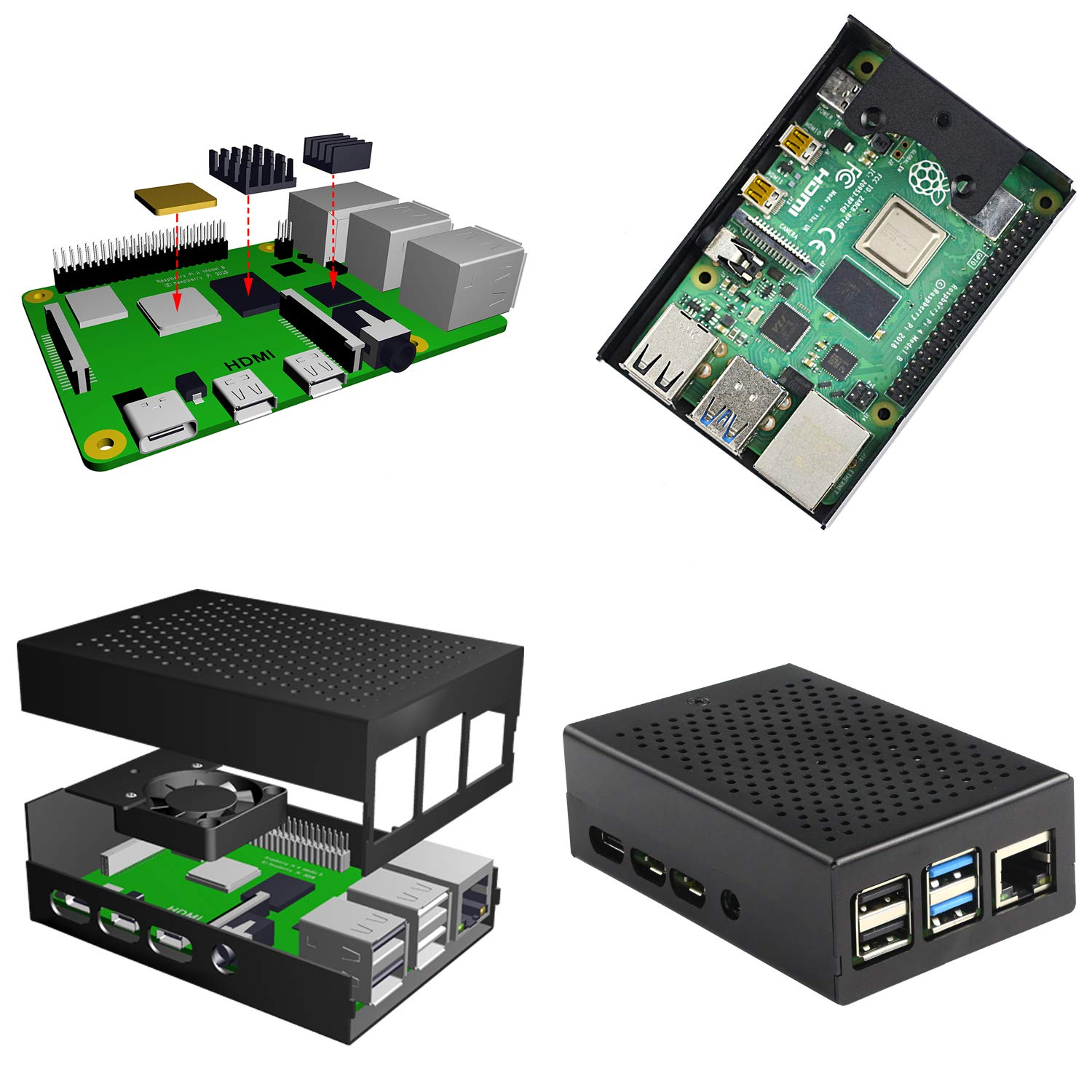 Amazon.com: Jun-Electron - Carcasa para Raspberry Pi 4 ...
