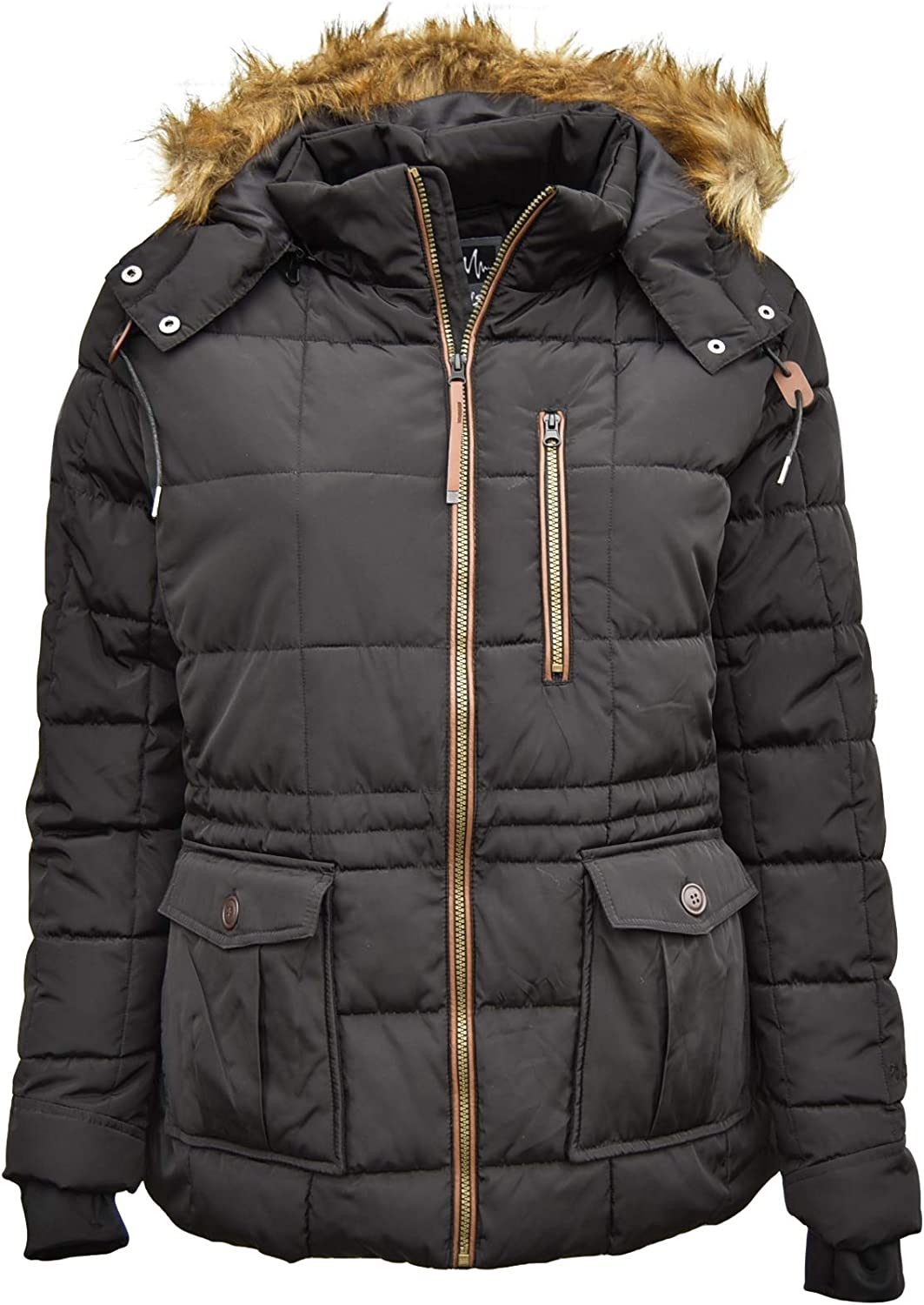 Image of Anoraks & Lightweight Jackets Pulse Womens Plus Size Extended Arrow Down Alt Quilted Parka Anorak Coat