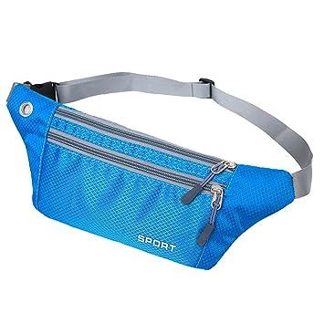 ENKNIGHT Cinturón impermeable para correr con diseño delgado para cinturón de seguridad, para viajes,