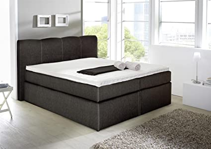 Kasper-Wohndesign Cama con somier cama Sky 160 x 200 cm Plástico Negro