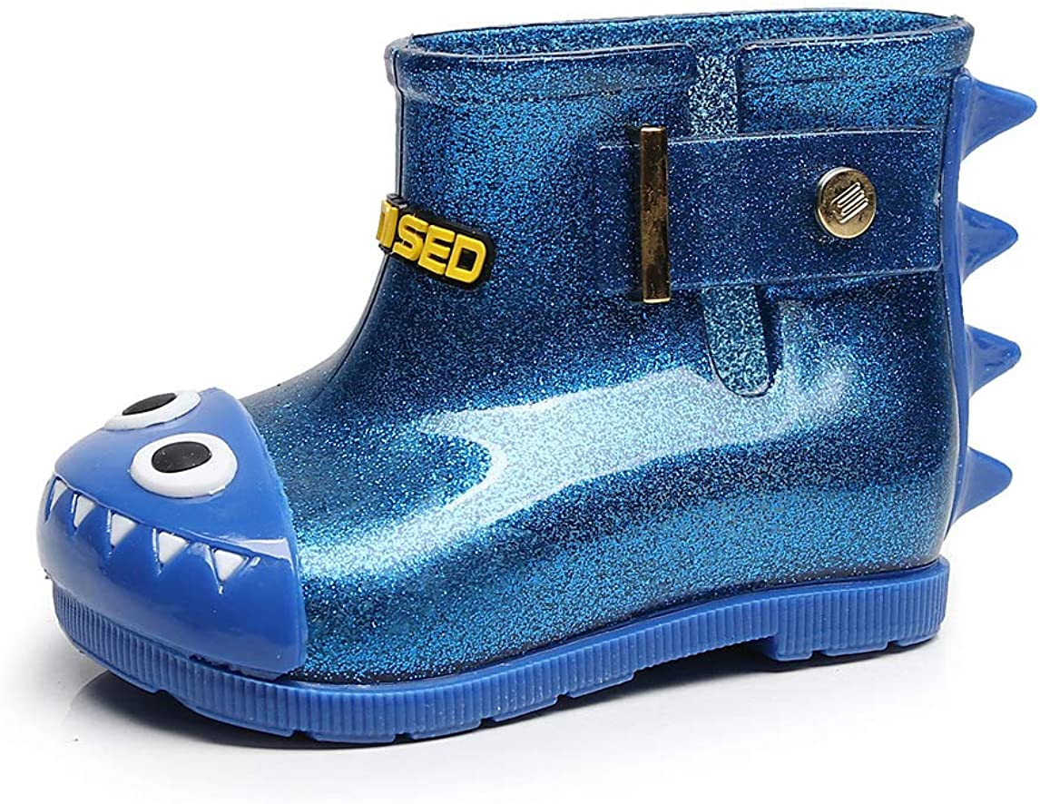 Lightweight and Anti-Skid NOMSOCR Toddler Kids Glitter Waterproof Rain Boot