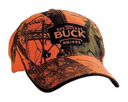 db24e2fdf99 Amazon.com   Buck Mossy Oak Blaze Orange Hat   Sports   Outdoors