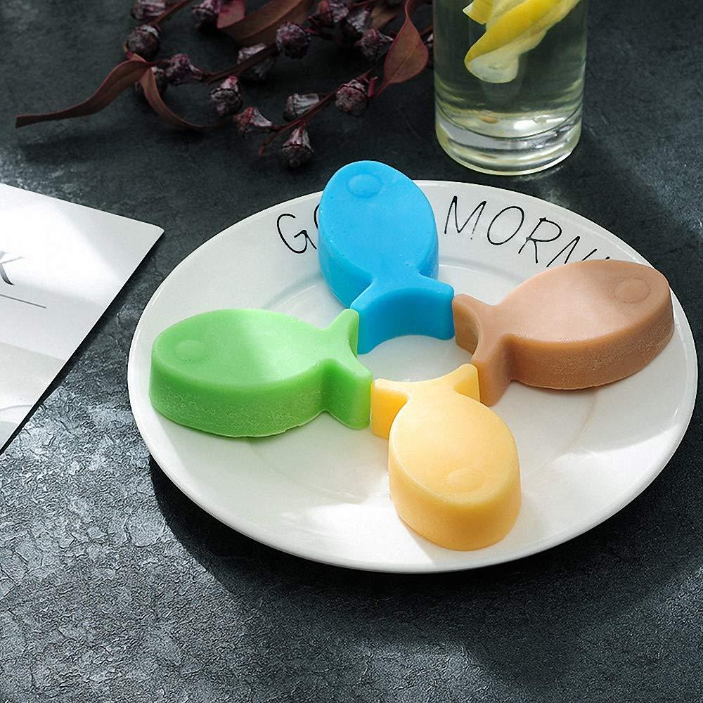 Amazon.com: MoldFun - 3 moldes de silicona con forma de pez ...