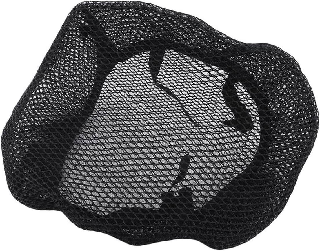 Bigsweety Motorcycle Protection Seat Cover Breathable Anti-slip Resilient Mesh Motorbike Chair Protector Mat,70-78cm