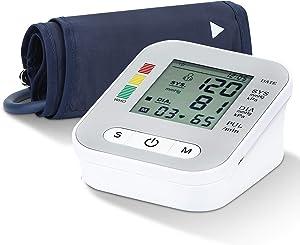 Blood Pressure Monitor Upper Arm, Digital BP Machine Adjustable Cuff 2 Users 198 Memories Blood Pressure Detector USB Powered Blood Pressure Monitor for Home Use