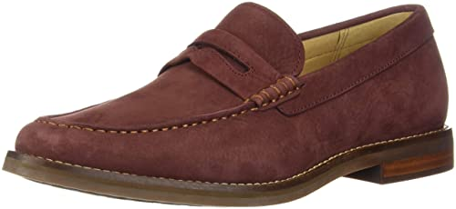 3c07132dcd8 Image Unavailable. Image not available for. Color  Sperry Men s Gold Exeter  Penny Loafer Burgundy Nubuck 10 ...