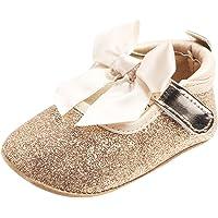 Baoblaze New Baby Girl Princess Shoes Bling Crib Shoes Prewalker Soft Sole - Golden, 0-6 Months