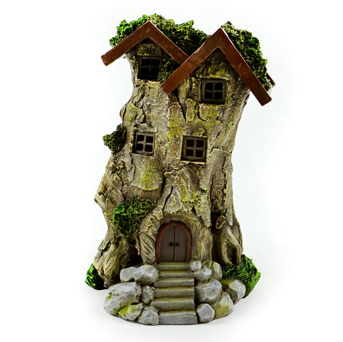 Touch of Nature 55607 Fairy Garden Tree House, 8''