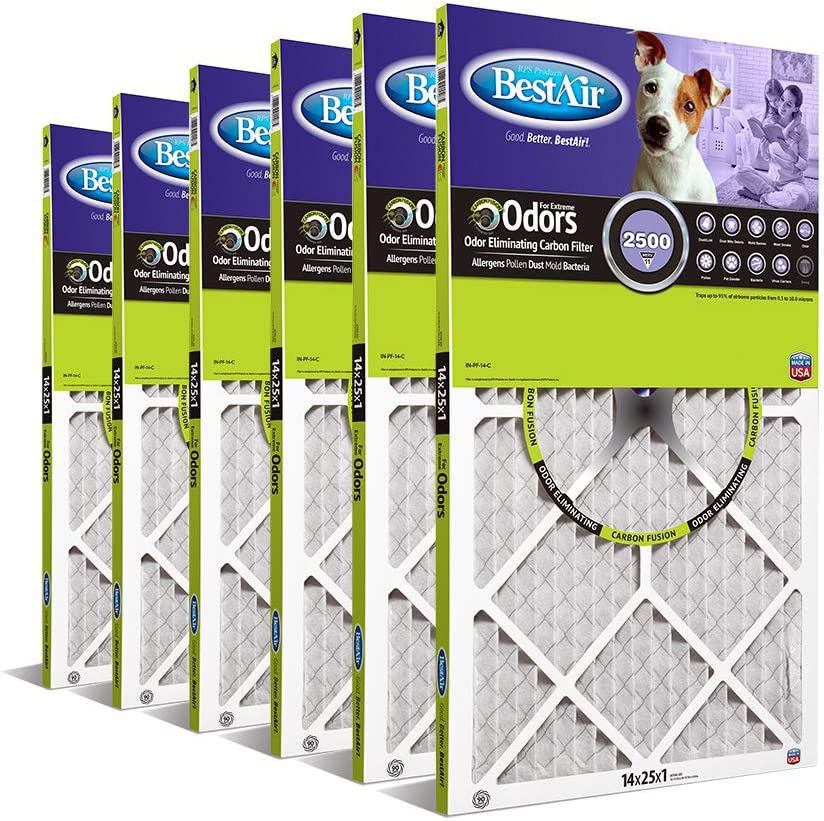 "Pinch Pleat Filter MERV 6 14/"" x 25/"" x 1/"" American Air Filter"