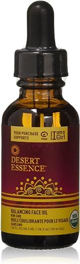 Desert Essence Balancing Face Oil - 0.96 Fl Oz - Pomegranate & Jojoba Oil - Promotes Skin Tone Balance - For All Skin Types - Moisturizer - Skincare - Smooth & Silky - USDA Verified - No Parabens