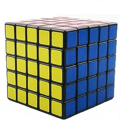 SIMPVALE Cube de Rubik Jeu d'action et de Réflexe Rubik's Cube Magic Cube Puzzle Twist Rubik (5x5x5, Noir)