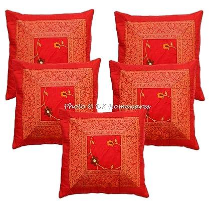 Amazon.com: DK Homewares Indian Ethnic Sofa Throw Pillow ...