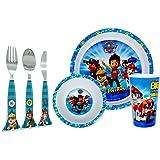 Paw Patrol 3PC Ensemble de vaisselle et assorti 3PC Ensemble de couverts Combo