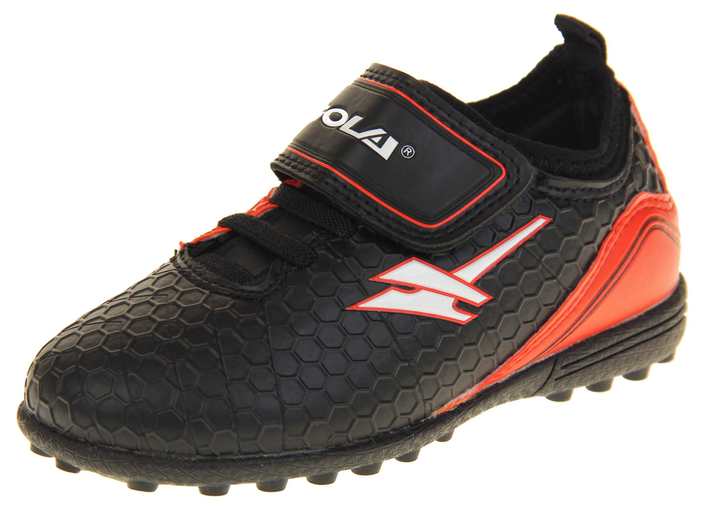 Gola Boys Astro Turf Kids Sports Touch Fastening Lace Up Shoes Football Trainers Black & Red 8 US Toddler