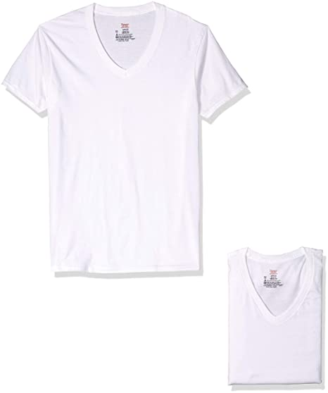Hanes Premium Cotton White V Neck T Shirts 3 Pack 7880w3 At