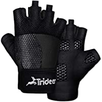 Purple Cross Training Trideer Womens Ultralight Weight Lifting Gloves Breathable Lycra /& Anti-Slip Gel Pad Bodybuilding Available in Black Pair Gym Glove for Powerlifting Pink