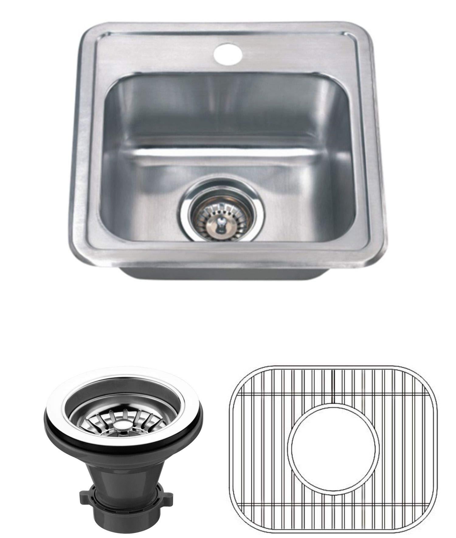 Wells Sinkware CMT1515-6-1 22 gauge Single Bowl Top-Mount Kitchen Sink Package, Stainless Steel by Wells Sinkware