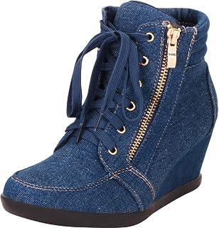 d55b7e3cb Amazon.com   Forever Link Women's Shea-42 Fashion Wedge Sneakers ...