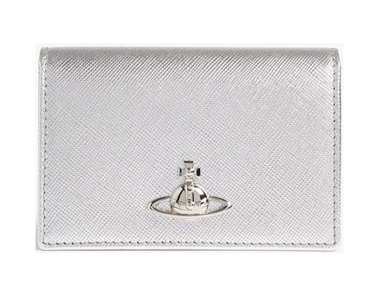 英国 Vivienne Westwood [ヴィヴィアンウエストウッド] カードホルダー パスケース 定期入れ シルバー 本革 イタリア製 Pimlico Silver [並行輸入品]   B07N1GPYV4