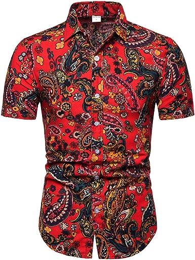 Jinyuan Camisa De Flores De Verano para Hombres Camisa ...