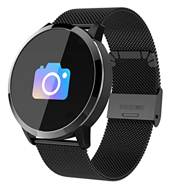 3e8f766f0a Amazon   スマートウォッチ スマート腕時計 活動量計 メンズ 心拍計血圧 ...