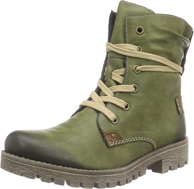 Rieker Women's 78530 Ankle Boots, Green