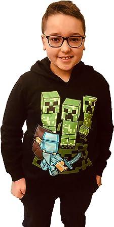 da Ragazzo Felpa con Cappuccio Minecraft
