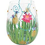 """Enesco Designs by Lolita """"Firefly"""" Hand-Painted Stemless Wine Glass, 20 oz. , Multicolor"""