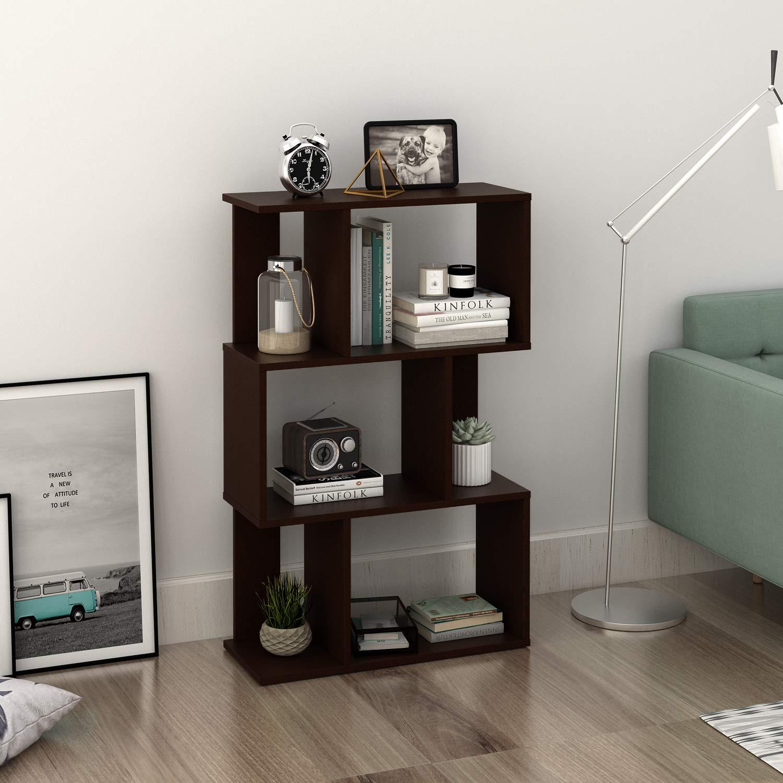 Living Room DEVAISE 4-Shelf Modern Bookcase Organizer Storage Bookshelf for Home Office