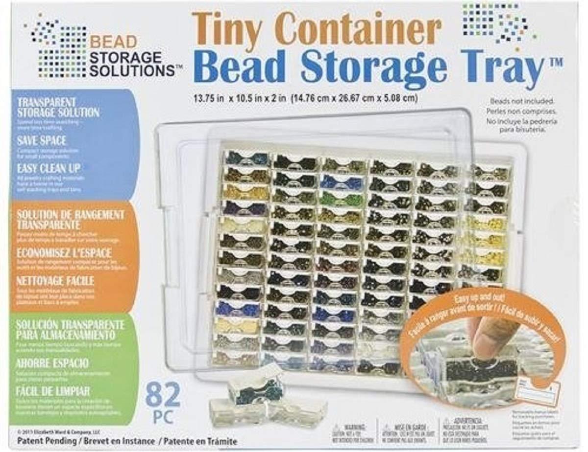 Darice 82-Piece Elizabeth Ward Bead Storage Solutions Tiny Container Storage Tray (2, Tiny)